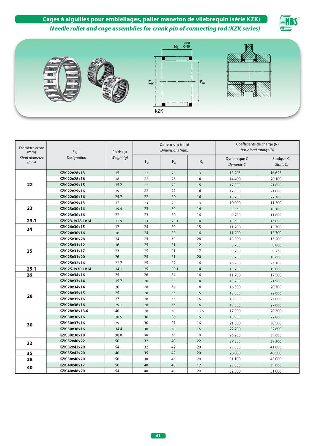 KT253117 Needle Bearing Cage K25x31x17 25mm x 31mm x 17mm