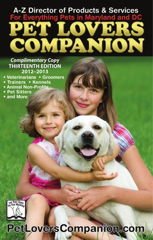 Pet lovers companion md dc by 343 media llc issuu page 1 solutioingenieria Gallery