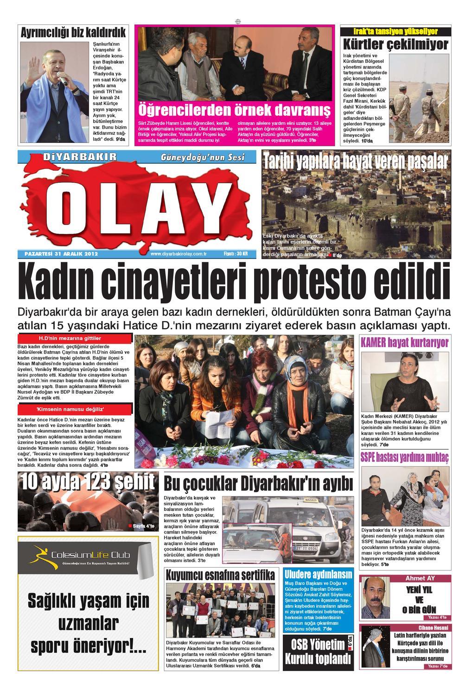 31 12 2012 Gazete Sayfalari By Diyarbakir Olaygazetesi Issuu
