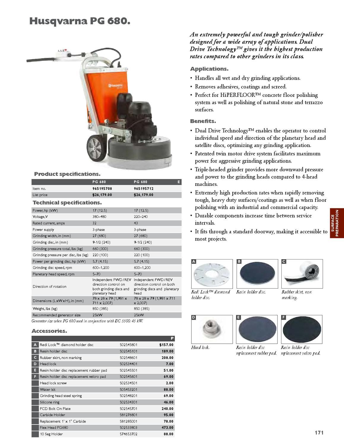 2013 Husqvarna Construction Products Catalog - Canada