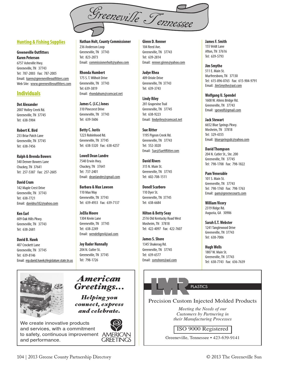 Gcpdirectory2013 by the greeneville sun issuu m4hsunfo