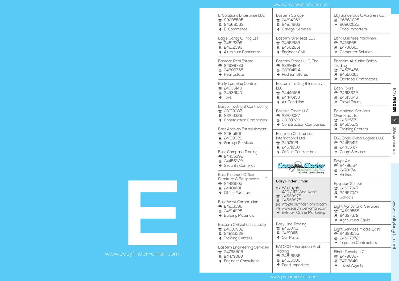 Easy Finder Oman 2013 by IBN AHMED UNITED ENTERPRISES Advertising