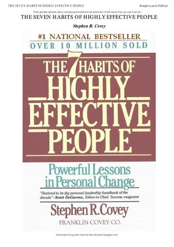 The seven habits of highly effective people by sad notsaid issuu page 1 fandeluxe