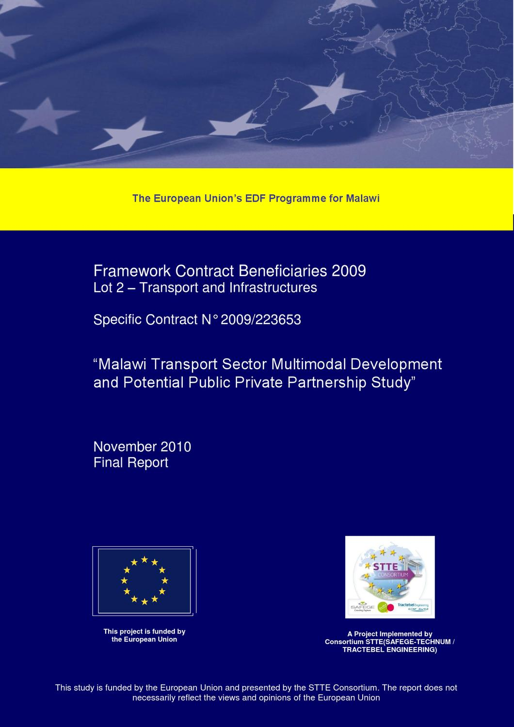 Malawi Transport Sector Multimodal Development And Potential Public Stamford Generator 1250 Kva Wiring Diagram Private Partnership Study By Olivier Crouzier Issuu
