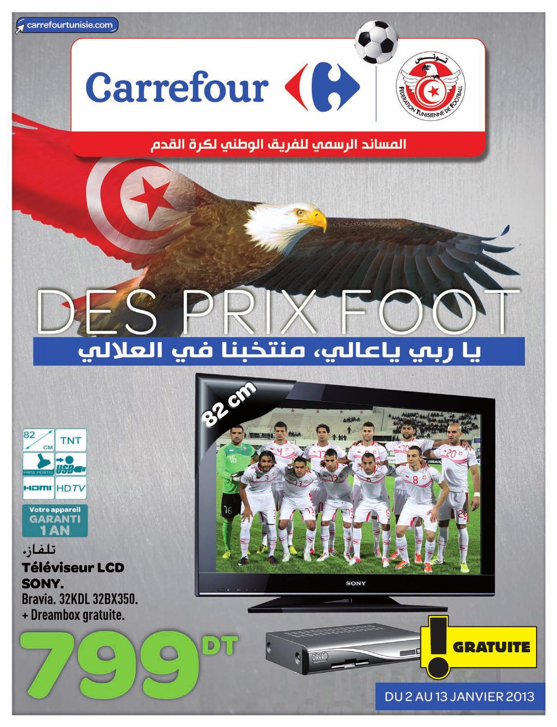 catalogue carrefour des prix foot by carrefour tunisie issuu. Black Bedroom Furniture Sets. Home Design Ideas