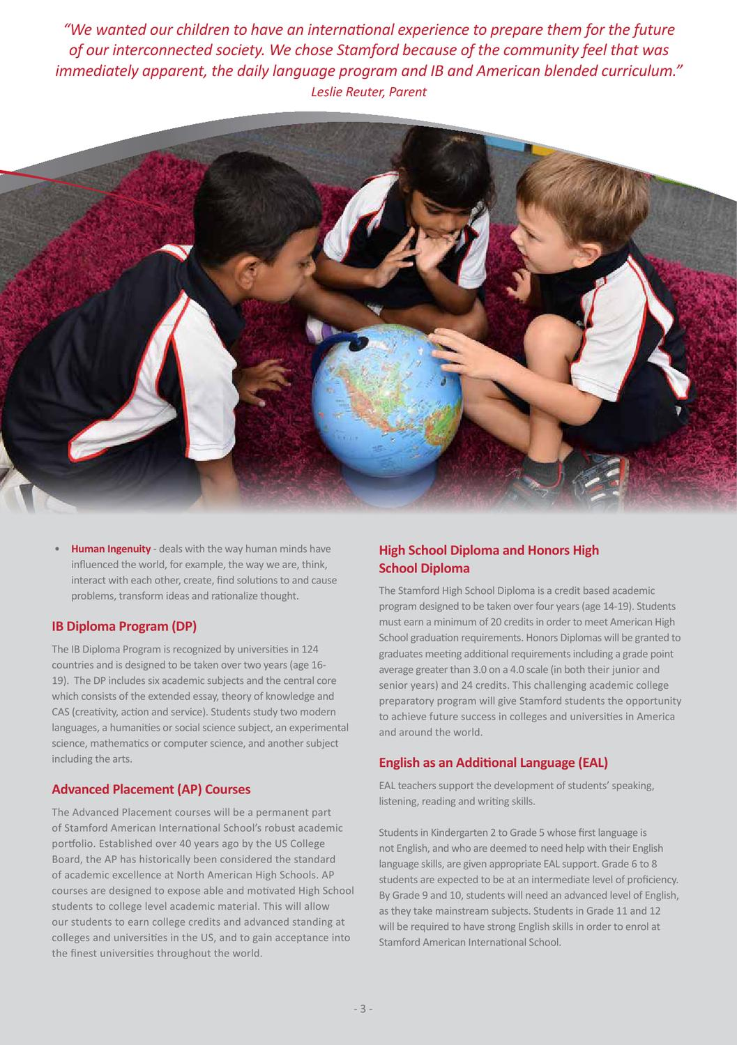 Stamford American International School Prospectus by Stamford American  International School - issuu