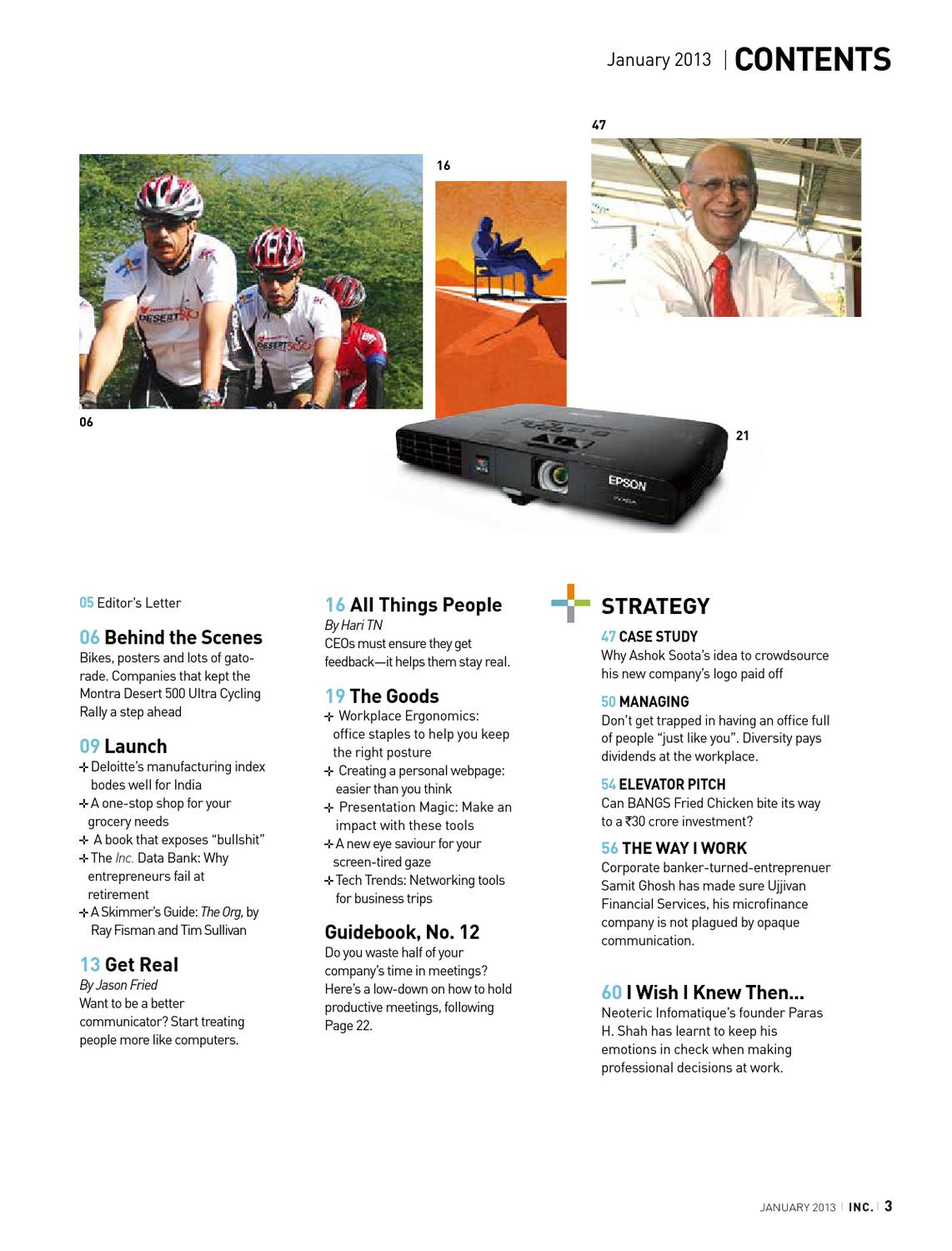13 fixes for 2013 by inc india issuu