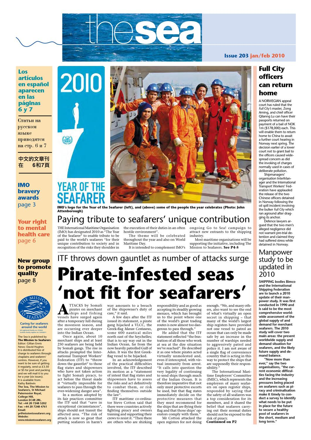 The Sea, January/February 2010 by Michael Keating - issuu