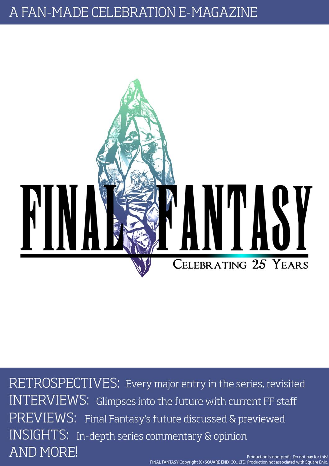Final Fantasy Celebrating Years By SeeD Fan Sites Issuu - Free contractor invoice square enix online store