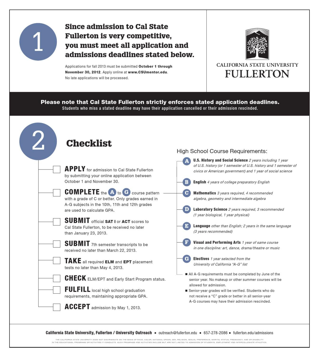2012 csuf recruitment admission check list by howard chang issuu ccuart Image collections