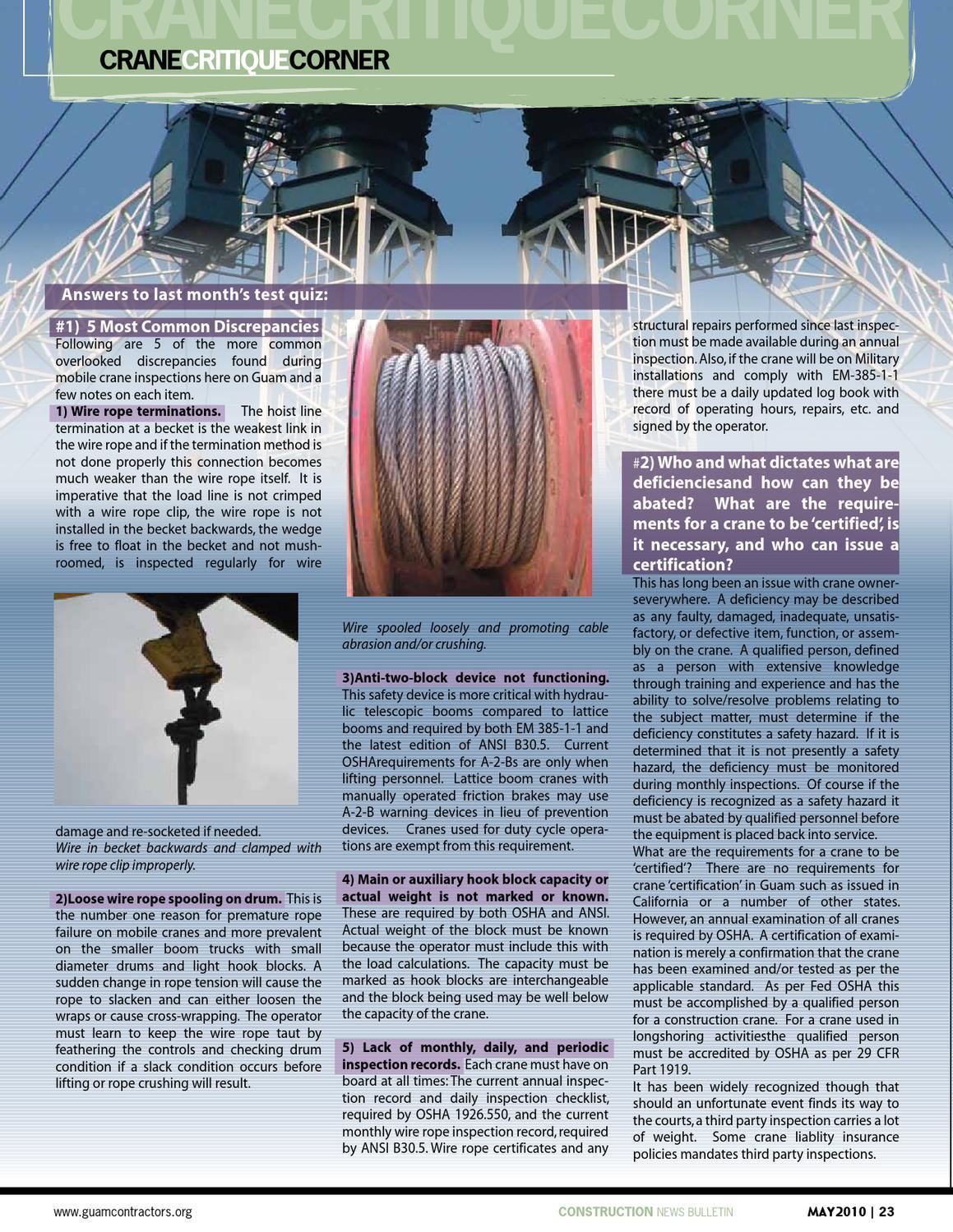GCA Construction News Bulletin May 2010 by Geri Leon