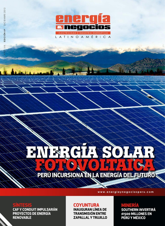 Energia Solar Fotovoltaica by Energía y Negocios Perú - issuu