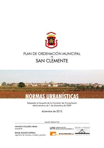 051_NORMAS URBANÍSTICAS by Ayuntamiento San Clemente - issuu