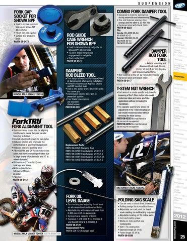 Motion Pro Damper Rod Fork Tool 08-0117