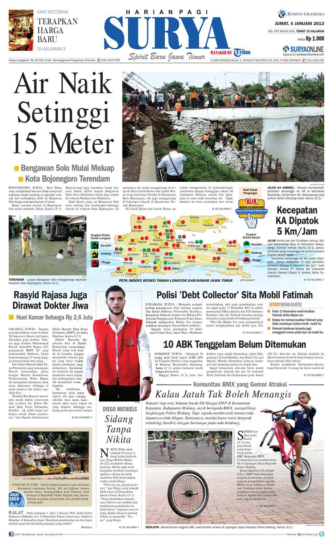 E Paper Surya Edisi 04 Januari 2013 By Harian Issuu Kebab Pisang Coklat Champlo Sf