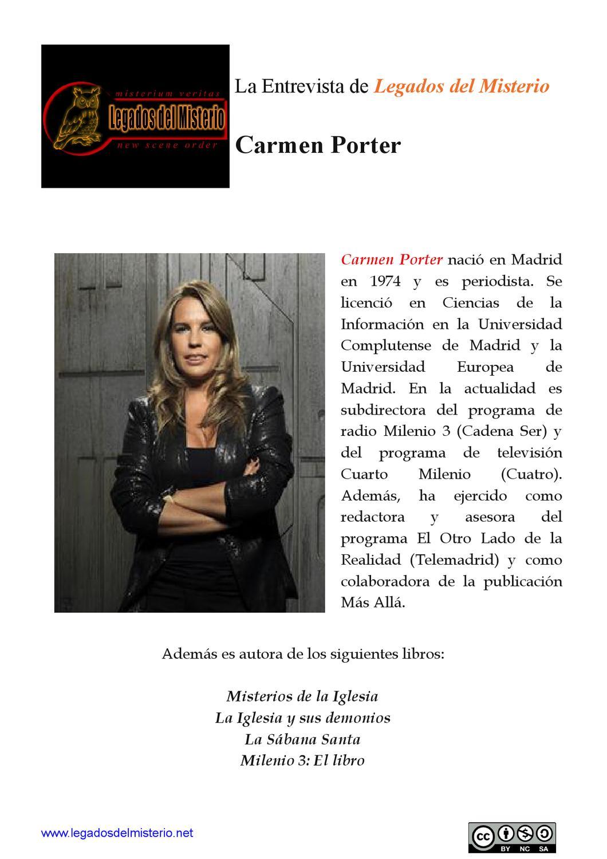Entrevista LdM a Carmen Porter by Legados del Misterio - issuu