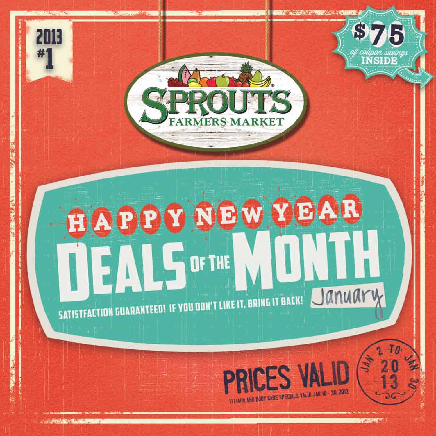 Sprouts January Deals of the Month by Sprouts Farmers Market