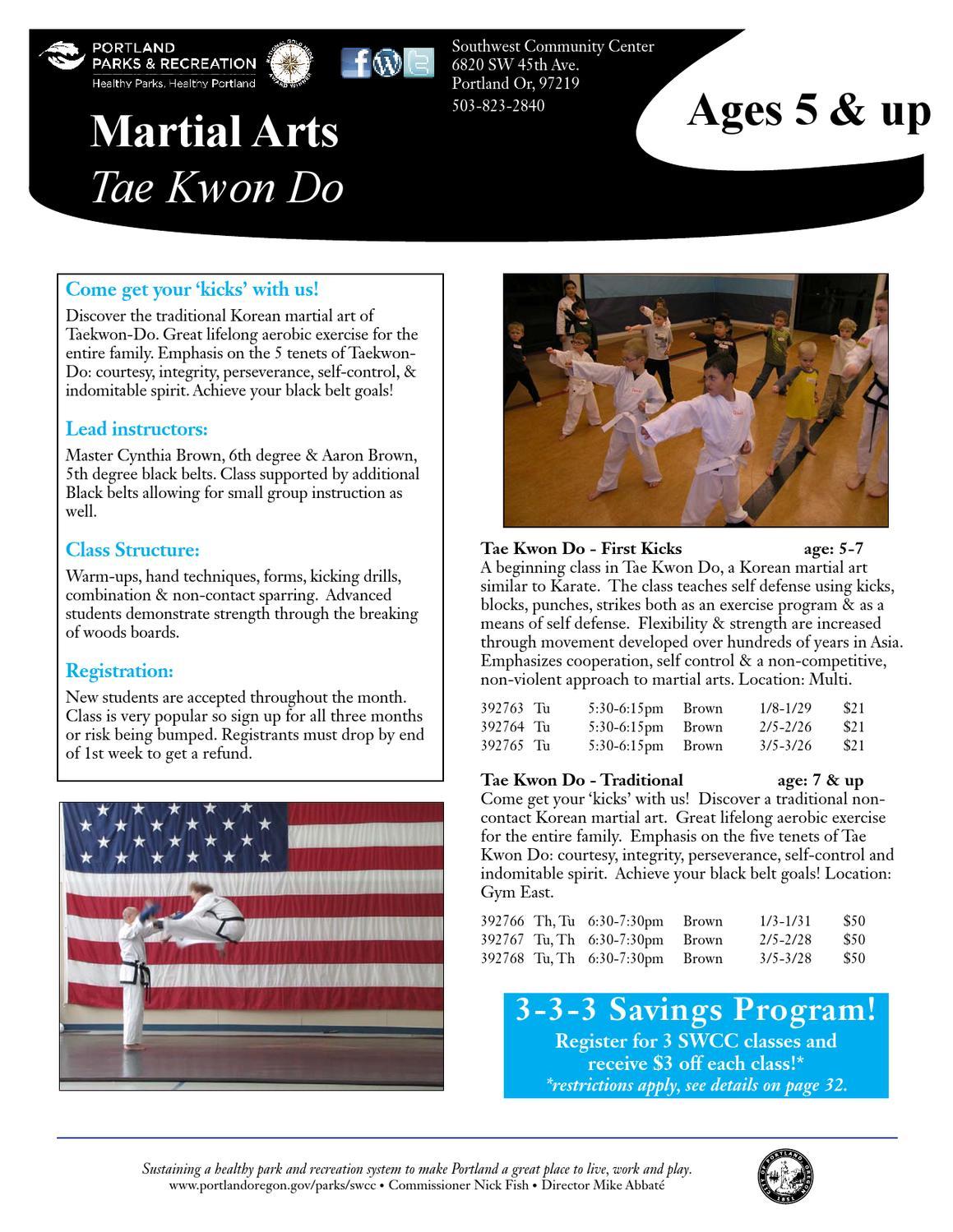 SWCC Tae Kwon Do WI13 by Portland Parks & Recreation - issuu