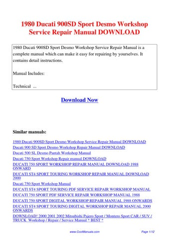 1980 ducati 900sd sport desmo workshop service repair ducati st4 owners manual pdf 2001 ducati st4 owners manual