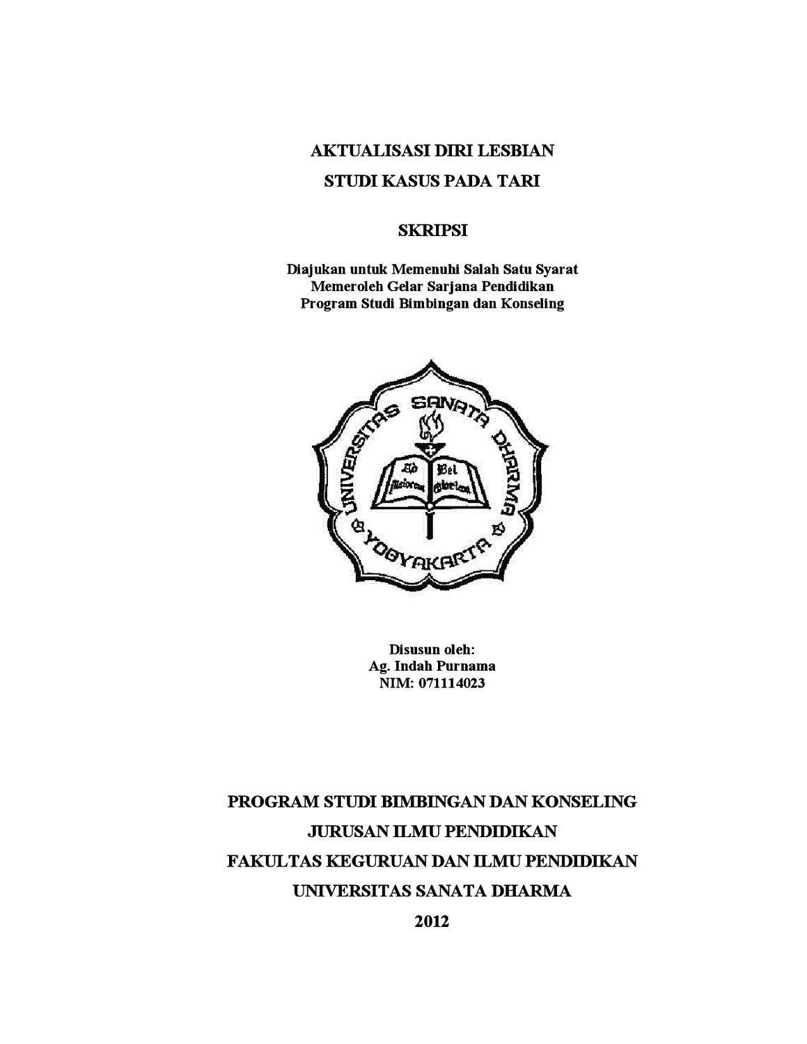 Aktualisasi Diri Lesbian Studi Kasus By Indah Purnama Issuu