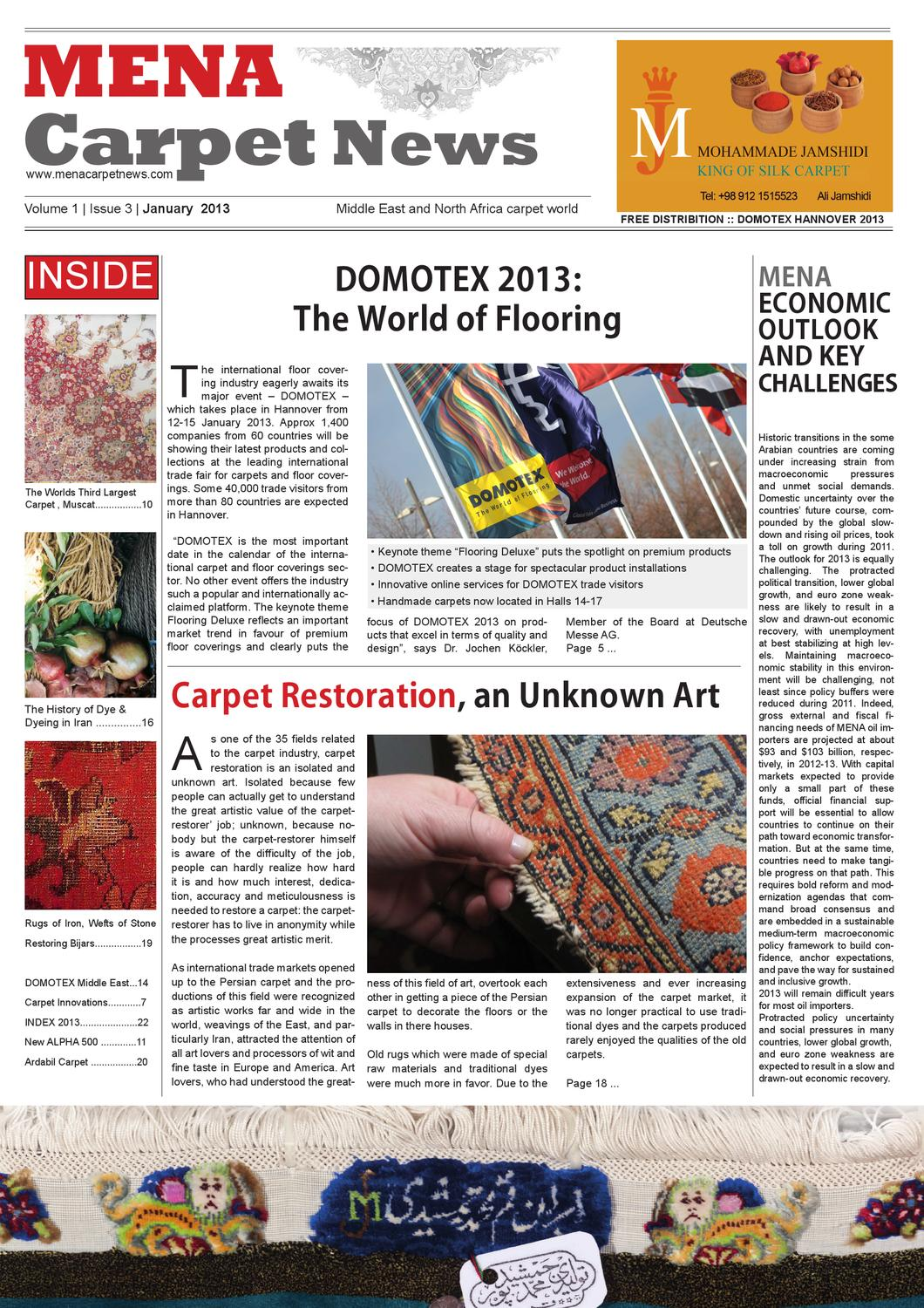 Mena Carpet News By Kohan Textile Journal Middle East Textile Journal Issuu