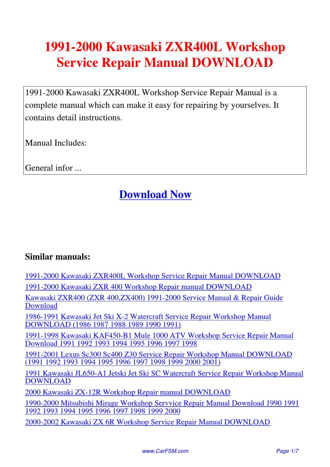 Kawasaki Kaf450 Mule 1000 1989 1997 Factory Repair Manual Auto Renault Workshop Service Wiring Diagram 2012 Pack 1991