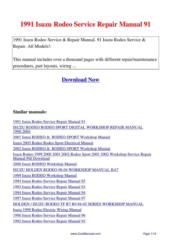 Print & Online Isuzu Car Repair Manuals - Haynes Publishing