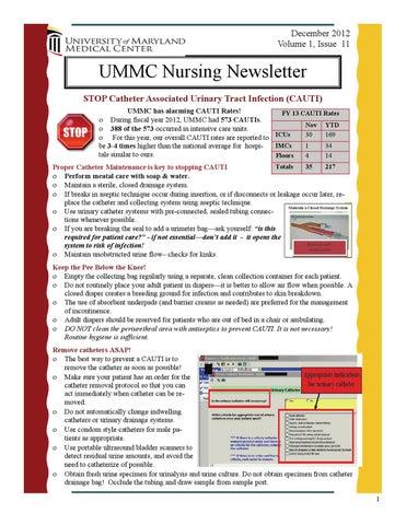 UMMC Nursing Newsletter by UMMS - issuu