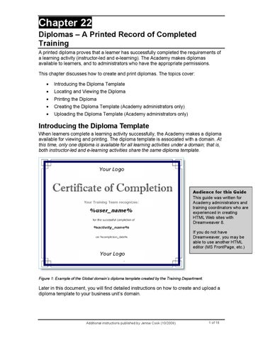 how to create a diploma
