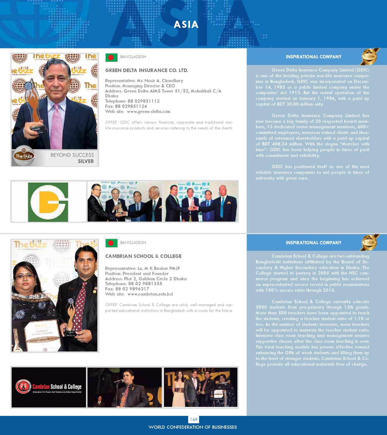 BUSINESS DIRECTORY 2012 by World Confederation of Businesses