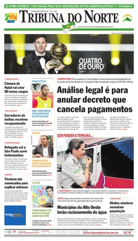 Tribuna do Norte - 08 01 2013 by Empresa Jornalística Tribuna do ... 2bedba0cc2292