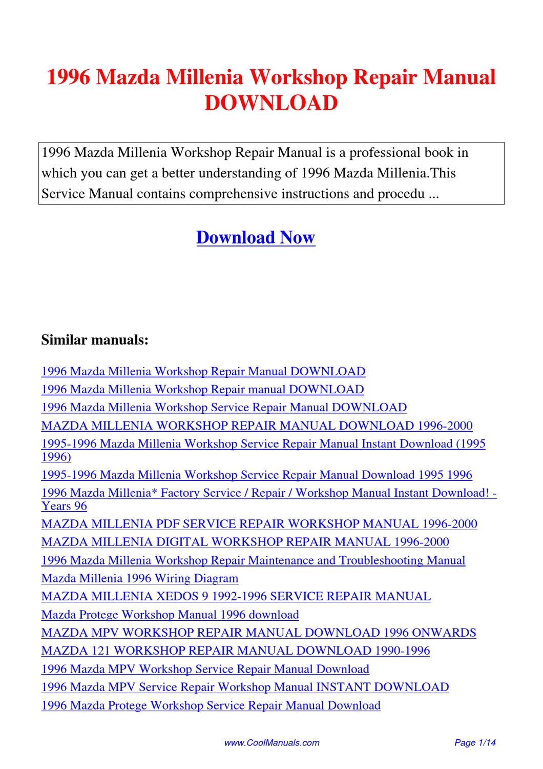 1996 mazda protege wiring diagram 1996_mazda_millenia_workshop_repair_manual by lan huang ... 1997 mazda protege wiring diagram