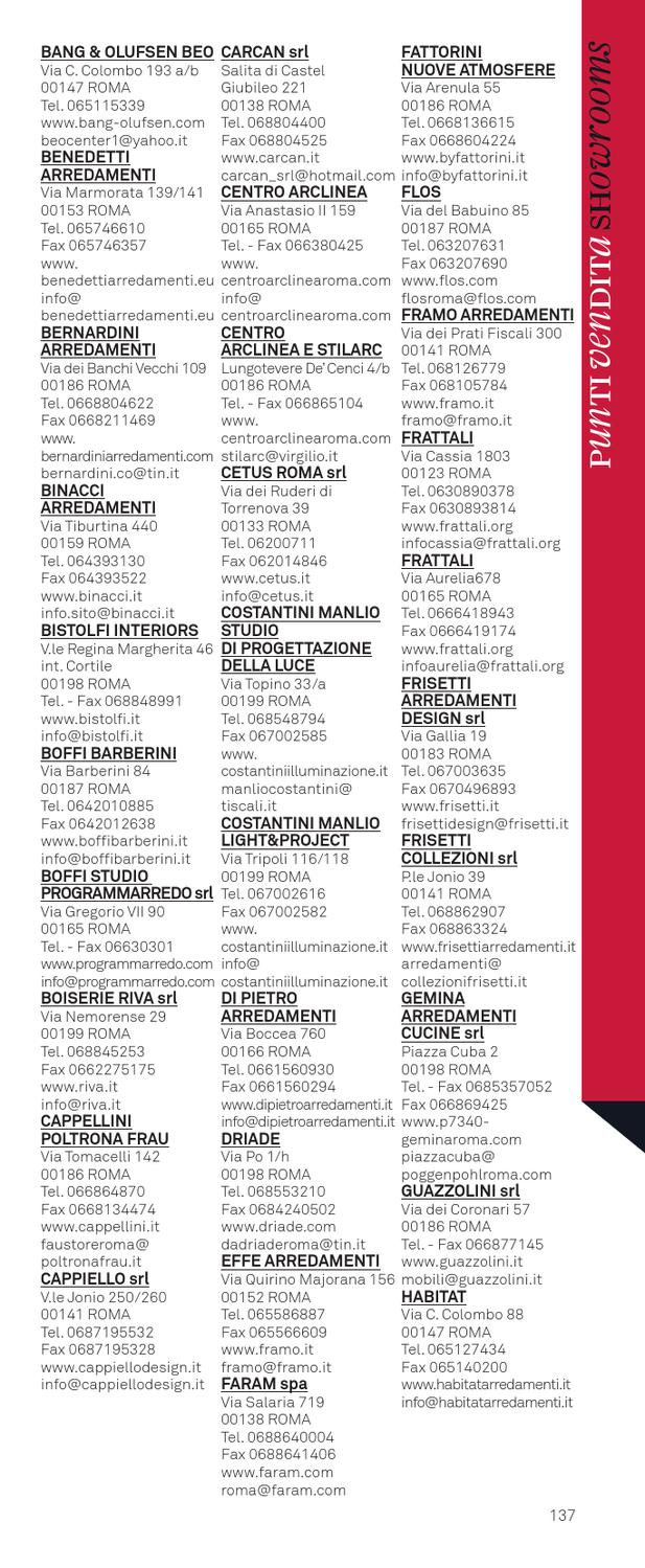 Frisetti Mobili Roma Prati Fiscali.Design Index 2013 By Interni Magazine Issuu