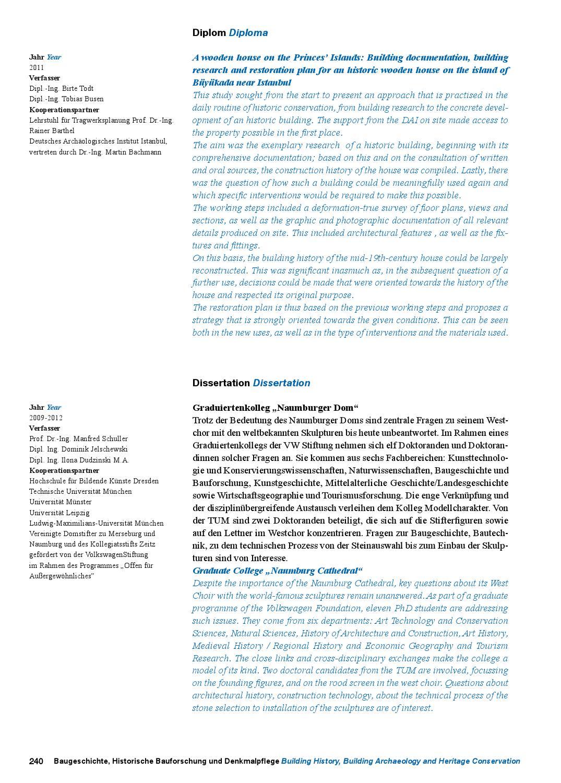 Jahrbuch - Yearbook 2012 by Fakultät für Architektur TU München - issuu