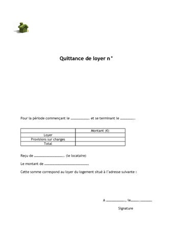 Modele Gratuit Quittance De Location By Xavier Priximmo