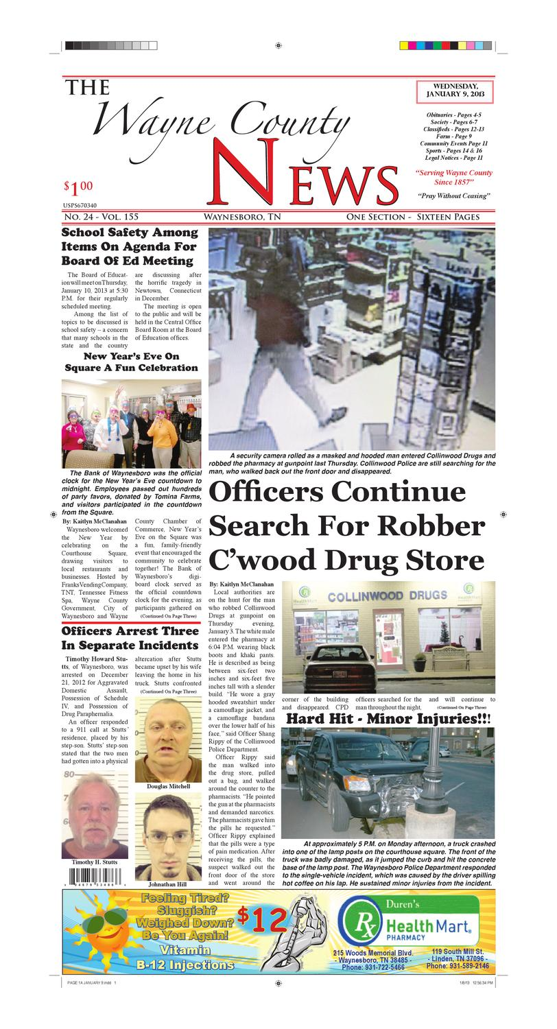 Wayne County News 01-09-13 by Chester County Independent - issuu