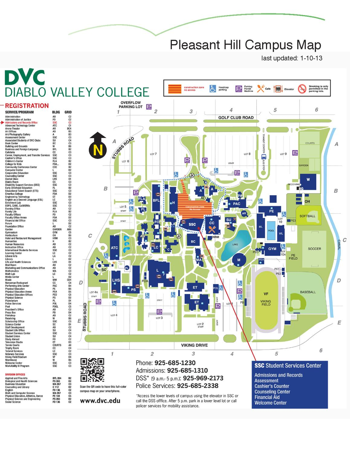 dvc pleasant hill campus map Spring 2013 Class Schedule By Diablo Valley College Issuu dvc pleasant hill campus map