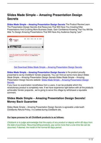 slides made simple 8211 amazing presentation design secrets by