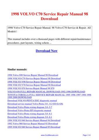 Volvo Car Repair & Service Manuals
