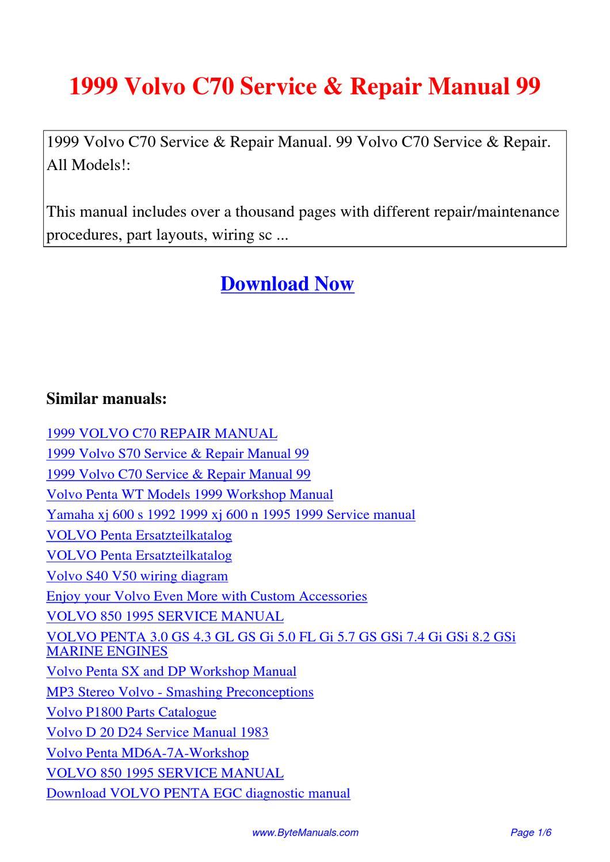 Array - 1999 volvo c70 service repair manual 99 by kai lan   issuu  rh   issuu com