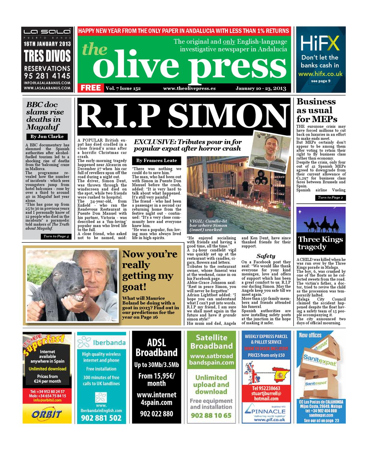 Olive Press Newspaper Issue 152 By Olive Press Newspaper Spain  # Muebles Roman Malaga
