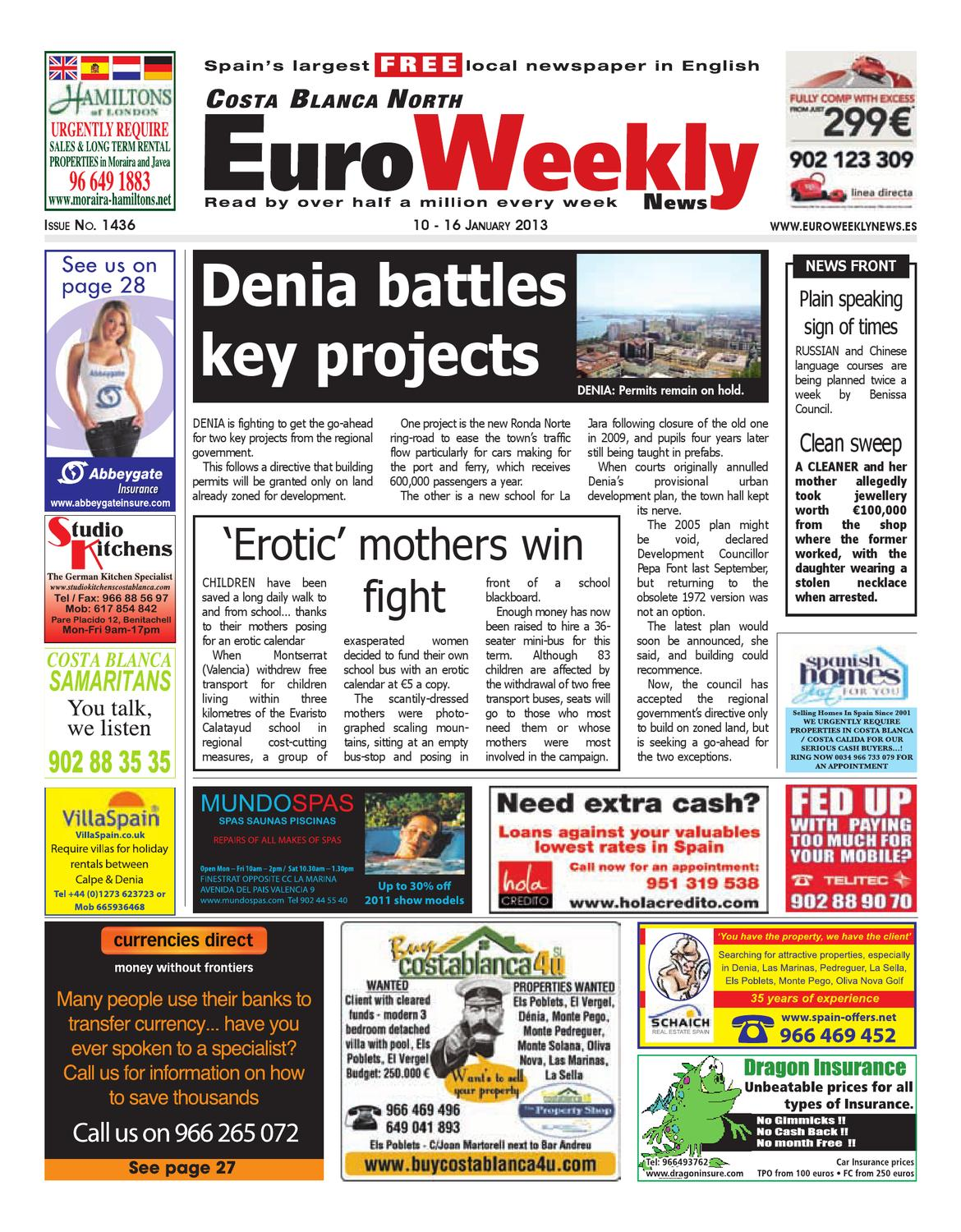 Costa Blanca North 10 - 16 January 2013 Issue 1436 by Euro Weekly News  Media S.A. - issuu