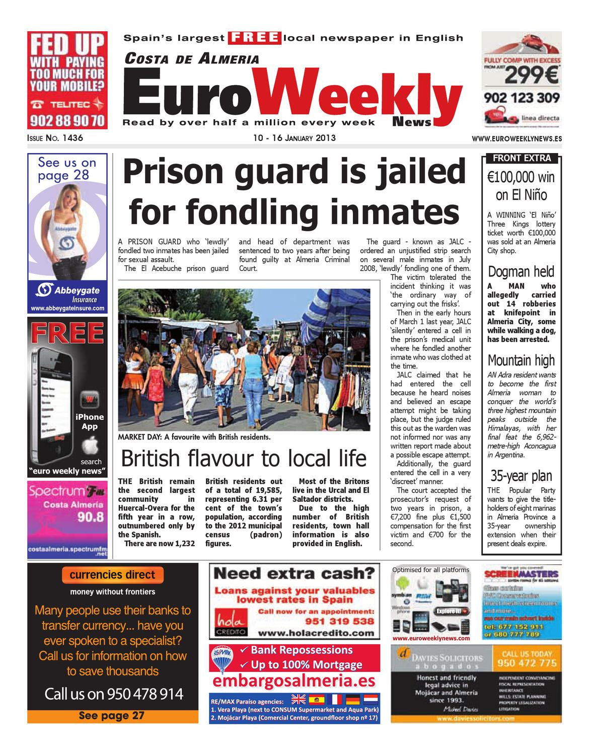 Costa de Almeria 10 - 16 January 2013 Issue 1436 by Euro Weekly News Media  S.A. - issuu a9a0853843384