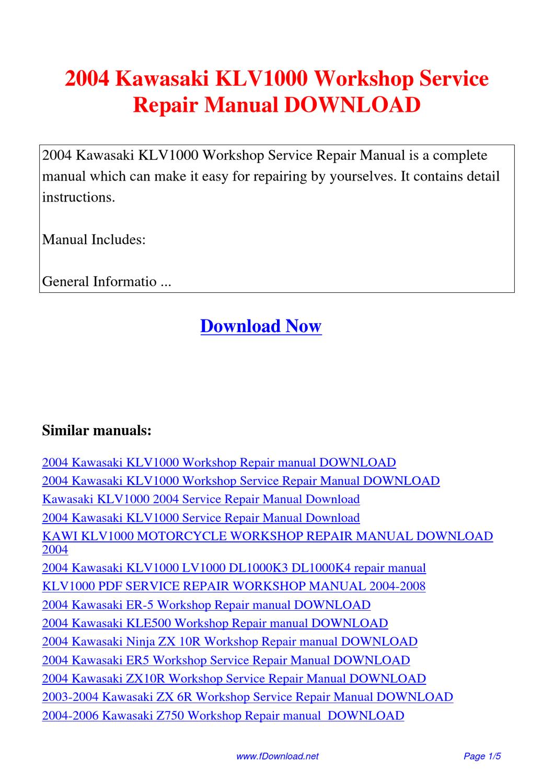 2003 Kawasaki Ninja 636 Service Manual Product User Guide 03 Wiring Diagram 2004 Klv1000 Workshop Repair By Sam Lang Issuu Zx6r