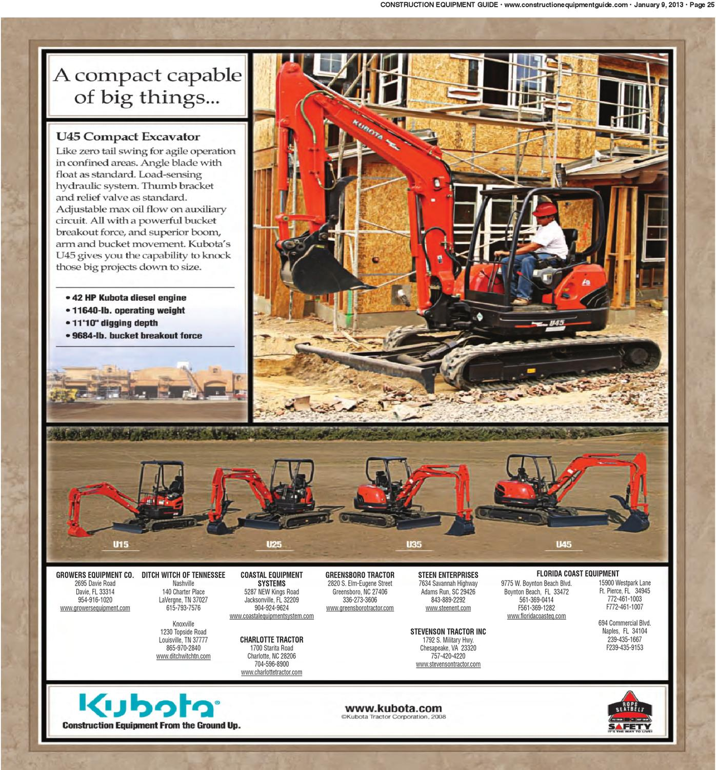 Southeast #1,2013 by Construction Equipment Guide - issuu