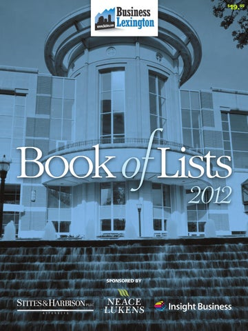 Business Lexington 2012 Book of Lists