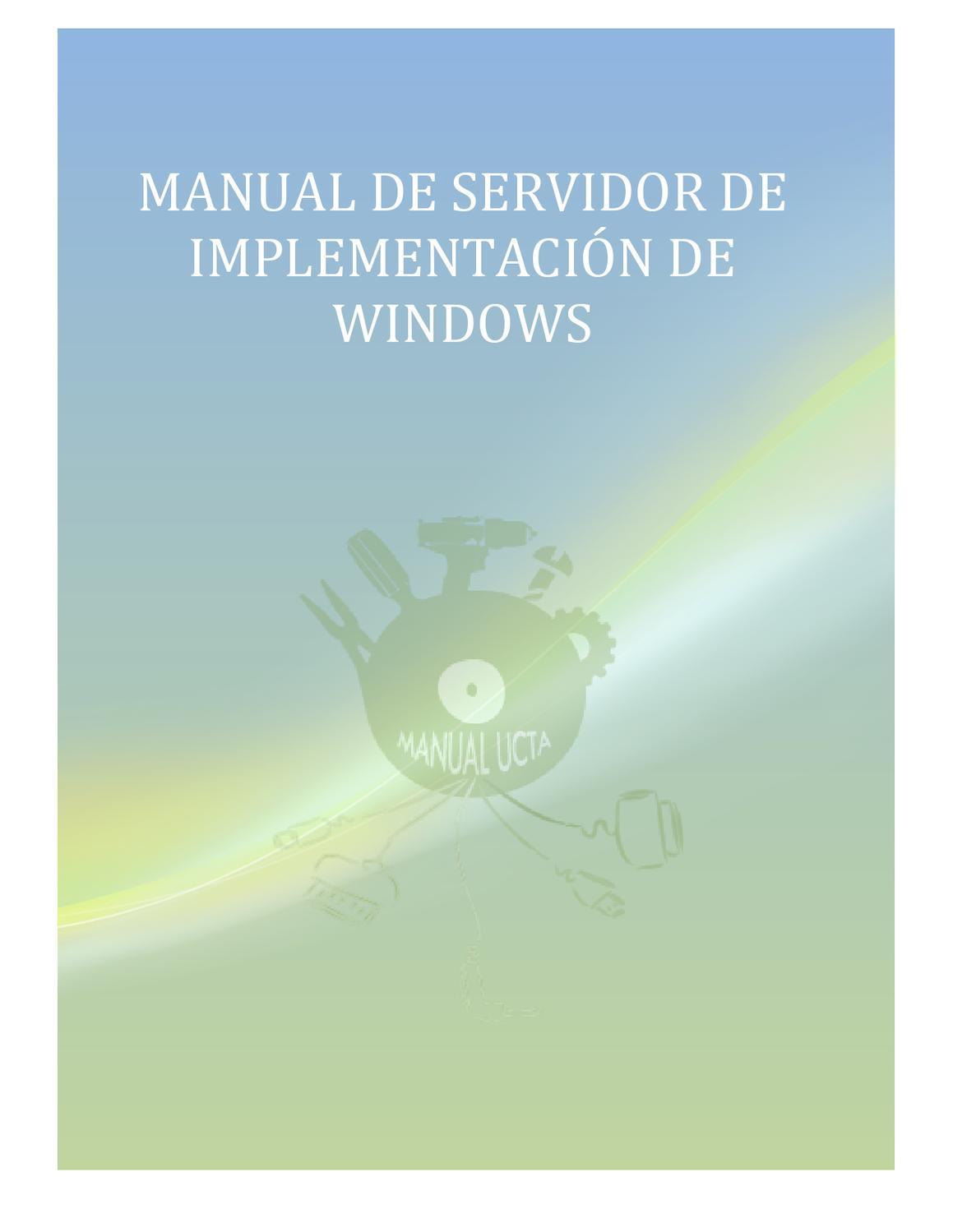 Servidor de implementacion Windows by Franky Hernandez - issuu