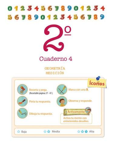 Matemática 2º, básica, primaria. Cuaderno N º 4: Geometría, medición ...