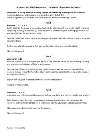 ptlls diffrent methods of giving feedback With the range of assessment methods available in learning and teaching,  how the different methods help students to  by giving feedback at an early .