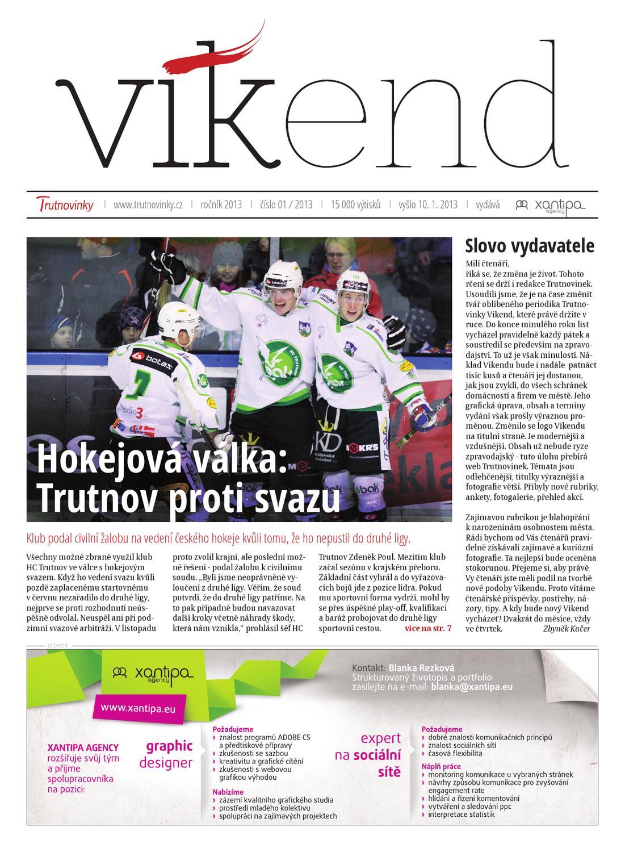 Trutnovinky Vikend 10 1 2013 By Zbynek Kacer Issuu